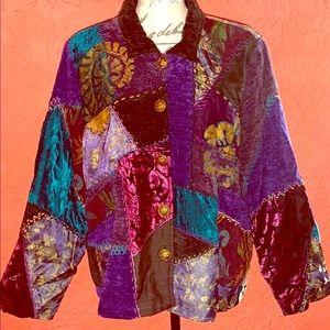 🦋🌼Vintage Grunge Boho Tapestry Patchwork Jacket